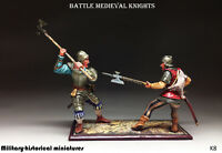 St. Petersburg Collection Battle Medieval Knights RARE Tin toy soldier 54mm