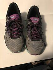 Asics T762N Mujer GT 2000 Trail V5 Zapatillas Gris Púrpura Para Mujer Talla 8