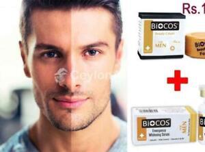 Biocos Men Whitening Cream & Emergency Men Whitening Serum 100% Beauty Original