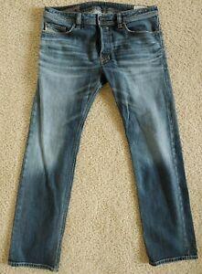 Diesel Men's Safado Slim Straight 0885K Dark Blue Stretch Jeans Size 34x30 $198