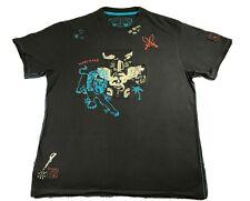 Marc Ecko Cut & Sew Snakes, Skull, Lion, Spider Deadly Threads T Shirt Men's XL
