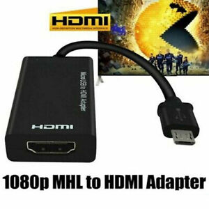 Micro USB to HDMI Cable MHL Adapter 1080p HD TV For Samsung HTC Android Phone