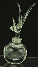 Vintage Perfume Bottle Bird Paperweight Glass Crystal ? Forked Tail #2 (180)