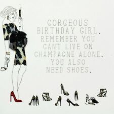 Five Dollar Shake Birthday Girl Shoes & Champagne Birthday Greeting Card