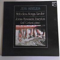 "33 RPM Jean Sibelius Disk LP 12 "" Melodies Songs Lieder J Hynninen R Gothoni"