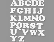 72 Alphabet Letter 9.5cm White Card Shapes for Display Boards