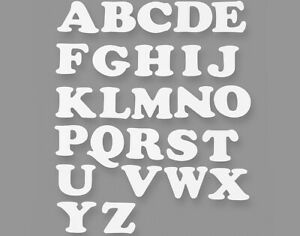 78 Alphabet Letter 9.5cm White Card Shapes for Display Boards
