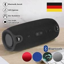 Tragbarer Wireless Bluetooth Lautsprecher Stereo Subwoofer SD FM Musicbox DE