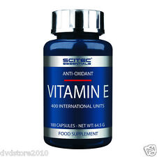 VITAMINA SCITEC Essentials Vitamina E 100 Capsule 0728633101160