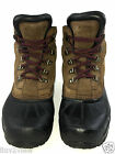 Sorel Insulsted Waterproof All Leather chestnut Black Boots Men's Size 8 US.