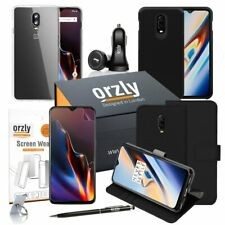 OnePlus 6T Essentials Pack including Wallet Case & Screen Protectors by Orzly
