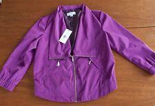 NWT $98 Calvin Klein Women's Size Small Purple Rain Moto Style Jacket Coat