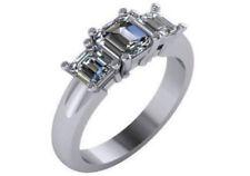 Anillos de joyería con diamantes de platino, asscher VS2