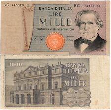 Italy 1000 Lire P#101e (1977) Banca d'Italia VF