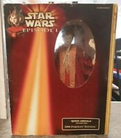 Star Wars Episode 1 Queen Amidala Figure Red Senate Gown Portrait Edition Hasbro
