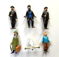 6pcs/Set The Adventures of Tintin PVC Figure Figurine Home Oranment Model Gift