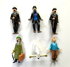 6pcs/Set The Adventures of Tintin Snowy Captain Haddock Thompson PVC Figure