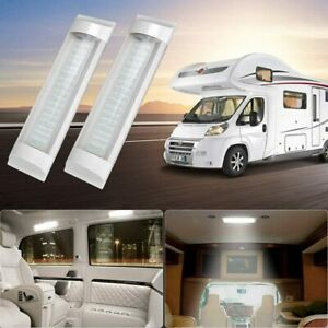 2X 72LED  12V Strip Lights Bar Car Interior Lamp Boat Van Caravan Vehicle Lights