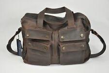 Henri Lloyd Calgary Laptop Bag Mens Brown Leather