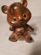 "5"" Omc Japan Ceramic Bear with flowers"