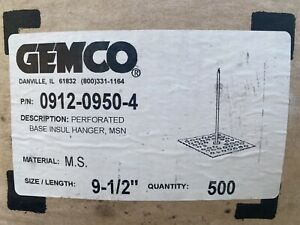 Gemco Perforated Base Insulation Hangers 9 ½ 500 Pieces