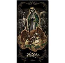 David Gonzales Art Dga La Reina Religion Mary Jesus Tattoo 30X60 Beach Towel