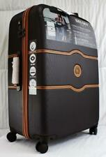 """DELSEY CHATELET HARD PLUS + 28"""" HARDSIDE SPINNER TROLLEY SUITCASE CHOCOLATE"""