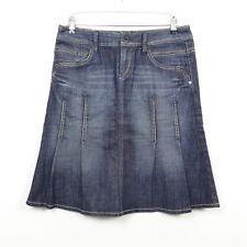 ESPRIT Jeansrock Denim Skirt Faltenrock Blau Gr. DE 38 M