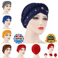 Wrap Hair Loss Head Scarf Muslim Women Turban Cap Cancer Chemo Hat Braid A+++ AU
