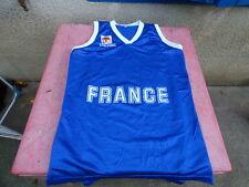 maillot de basket vintage Spalding France FFBB bleu XL
