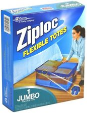 ZIPLOC Flexible Storage Tote Heavy Duty Clear Plastic Stack-able JUMBO 22 Gallon