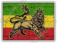 """Rasta Flag Lion Bob Marley Reggae Car Bumper Window Vinyl Sticker Decal 5""""X4"""""""