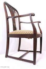 Prächtiger antiker Jugendstil Herrenstuhl Schreibtischstuhl Armlehnstuhl Lederst