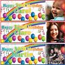 2 Personalised Birthday Banner Photo Rainbow Adults Children kids Party poster
