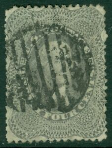 EDW1949SELL : USA 1860 Scott #37 Used. Grid cancel. With faults. Catalog $400.00