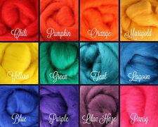 RAINBOW Palette Wool Roving Fiber 3 ozs./84 grams Needle Felting Spinning Soap