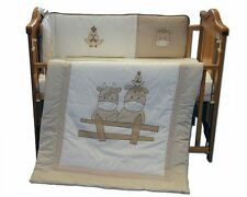 3 pcs Baby Bedding Set for Cot or Cot Bed- Cow