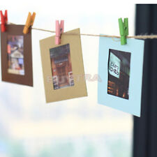 Delicate Photo Hanging Paper Frame Album Picture Display Wooden Clips