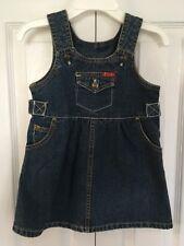Girls Guess Baby Blue Denim Jumper Dress Size 18 months
