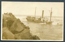AUSTRALIA,NSW,HARRINGTON,WRECK OF THE BURRAWONG AT MOUTH OF MANNING RIVER,WOB,