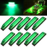 10x Marine Boat Green Utility Strip Light Bar Courtesy Lights 6LED 12-24V Sealed