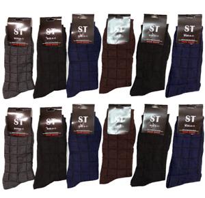 NEW 6-12 Pairs Mens Cotton Crew Fashion Casual Dress Socks Size9-11 10-13 SX-205