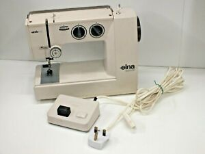 Vintage Elna Elnita SP Sewing Machine & Pedal - Swiss Made - Small & Compact