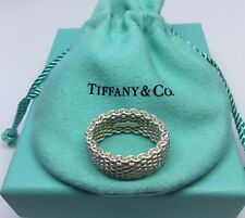 Tiffany & Co Sterling Silver Somerset Mesh wide Band Ring Sz. 6.5
