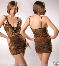 SEXY BABYDOLL LEOPARD CHEMISE Animal Print Bedroom Lingerie Tiger G-string