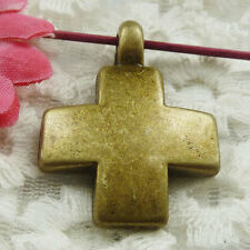 Free Ship 30 pieces bronze plated cross pendant 35x26mm #1848