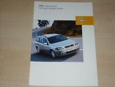 40608) Opel Astra Sport-Design-Paket Prospekt 07/2003