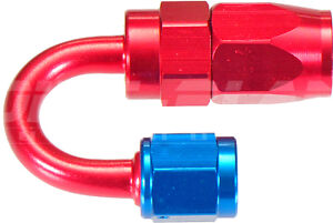 AN-4 180 Degree Hose End Fitting for Braided Hose