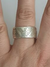 EMPORIO ARMANI Authentic Sterling Silver 925 Mens Heavy/Wide Ring