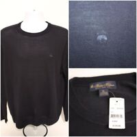 NWT $128 Mens BROOKS BROTHERS Merino Wool Blend Crew Sweater Pullover : Size XL
